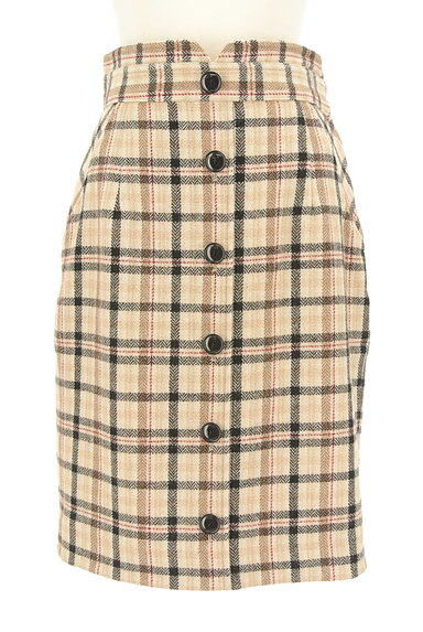 Apuweiser riche(アプワイザーリッシェ)の古着「チェック×無地リバーシブルスカート(スカート)」大画像1へ