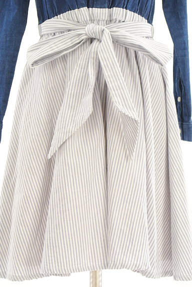 MILLION CARATS(ミリオンカラッツ)の古着「デニム×ストライプ柄膝下丈ワンピース(ワンピース・チュニック)」大画像5へ