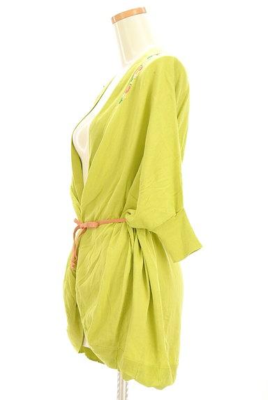 Jocomomola(ホコモモラ)の古着「小花刺繍ドロストミドルカーディガン(カットソー・プルオーバー)」大画像3へ