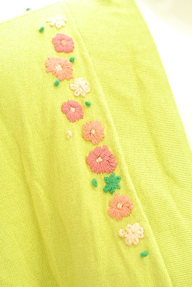 Jocomomola(ホコモモラ)の古着「小花刺繍ドロストミドルカーディガン(カットソー・プルオーバー)」大画像4へ