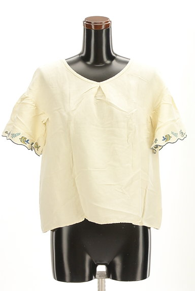 Jocomomola(ホコモモラ)の古着「スカラップ刺繍カットソー(カットソー・プルオーバー)」大画像1へ