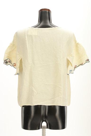 Jocomomola(ホコモモラ)の古着「スカラップ刺繍カットソー(カットソー・プルオーバー)」大画像2へ