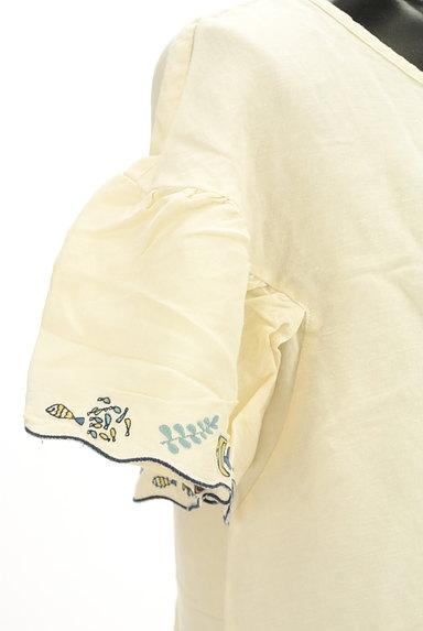 Jocomomola(ホコモモラ)の古着「スカラップ刺繍カットソー(カットソー・プルオーバー)」大画像5へ