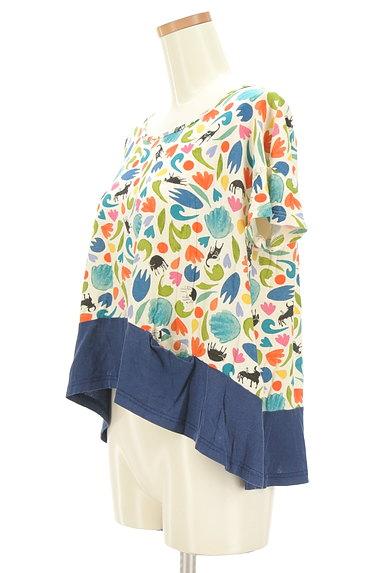 Jocomomola(ホコモモラ)の古着「カラフルレトロ切替カットソー(カットソー・プルオーバー)」大画像3へ