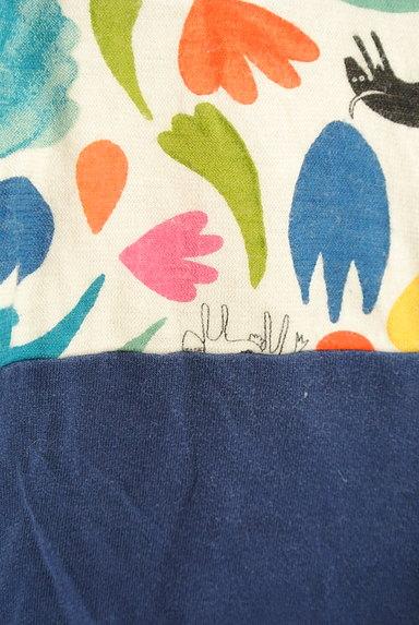 Jocomomola(ホコモモラ)の古着「カラフルレトロ切替カットソー(カットソー・プルオーバー)」大画像5へ