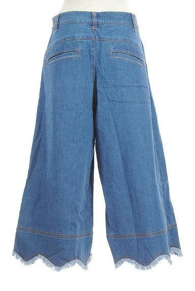 Jocomomola(ホコモモラ)の古着「ミモレ丈スカラップ裾デニムパンツ(デニムパンツ)」大画像2へ