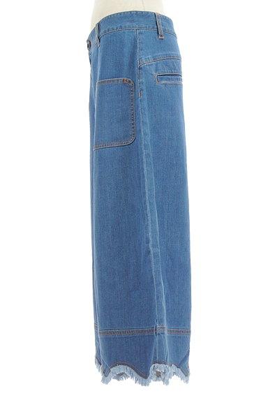Jocomomola(ホコモモラ)の古着「ミモレ丈スカラップ裾デニムパンツ(デニムパンツ)」大画像3へ
