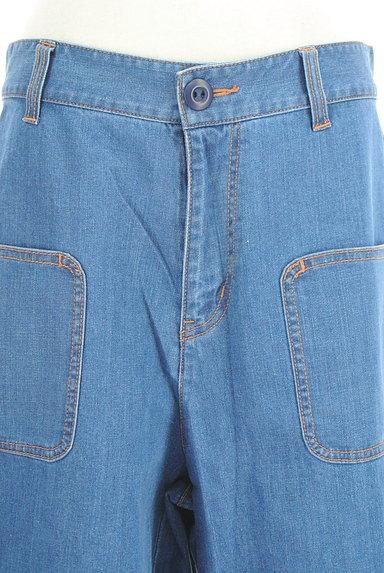 Jocomomola(ホコモモラ)の古着「ミモレ丈スカラップ裾デニムパンツ(デニムパンツ)」大画像4へ