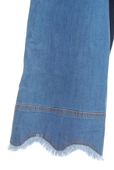 Jocomomola(ホコモモラ)の古着「ミモレ丈スカラップ裾デニムパンツ(デニムパンツ)」大画像5へ