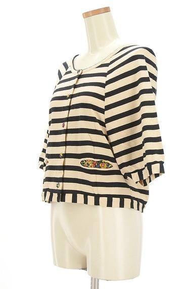 Jocomomola(ホコモモラ)の古着「花柄くるみボタン七分袖カーディガン(カーディガン・ボレロ)」大画像3へ