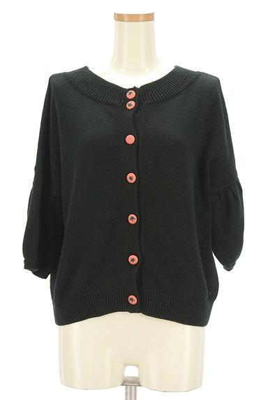 Jocomomola(ホコモモラ)の古着「トマトボタン7分袖カーディガン(カーディガン・ボレロ)」大画像1へ