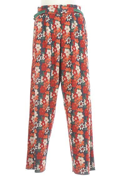 Jocomomola(ホコモモラ)の古着「ハイウエスト花柄ニットワイドパンツ(パンツ)」大画像1へ