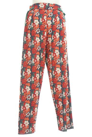 Jocomomola(ホコモモラ)の古着「ハイウエスト花柄ニットワイドパンツ(パンツ)」大画像2へ