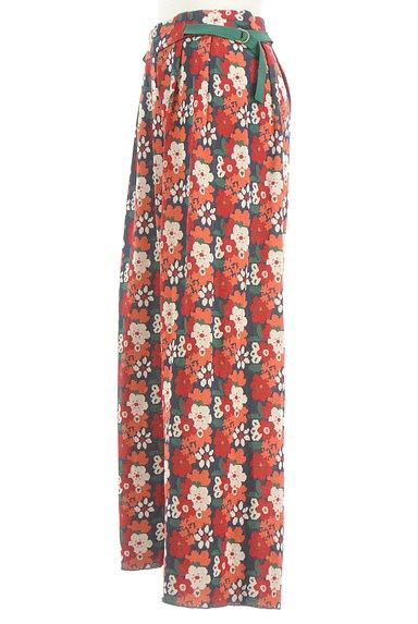 Jocomomola(ホコモモラ)の古着「ハイウエスト花柄ニットワイドパンツ(パンツ)」大画像3へ