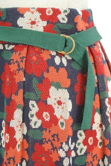 Jocomomola(ホコモモラ)の古着「ハイウエスト花柄ニットワイドパンツ(パンツ)」大画像4へ