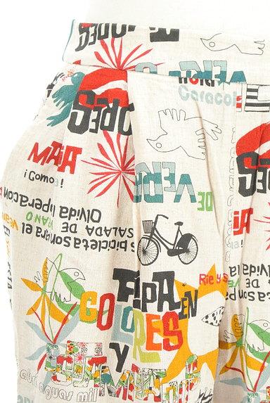 Jocomomola(ホコモモラ)の古着「ロゴイラストリネンテーパードパンツ(パンツ)」大画像4へ