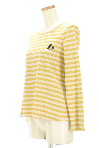 Jocomomola(ホコモモラ)の古着「うさ耳刺繍ボーダーカットソー(カットソー・プルオーバー)」大画像3へ