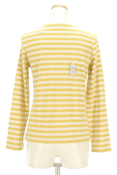 Jocomomola(ホコモモラ)の古着「うさ耳刺繍ボーダーカットソー(カットソー・プルオーバー)」大画像4へ