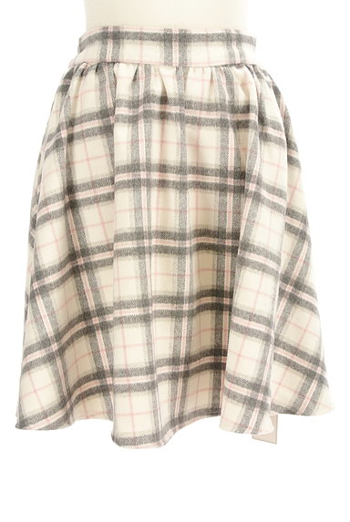 LODISPOTTO(ロディスポット)の古着「チェック柄起毛フレアミニスカート(ミニスカート)」大画像1へ
