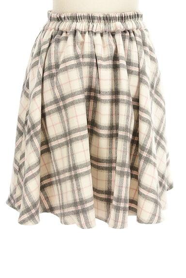 LODISPOTTO(ロディスポット)の古着「チェック柄起毛フレアミニスカート(ミニスカート)」大画像2へ