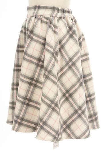 LODISPOTTO(ロディスポット)の古着「チェック柄起毛フレアミニスカート(ミニスカート)」大画像3へ