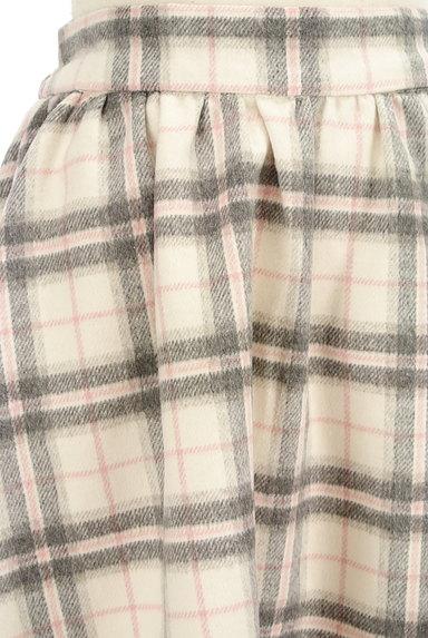 LODISPOTTO(ロディスポット)の古着「チェック柄起毛フレアミニスカート(ミニスカート)」大画像4へ