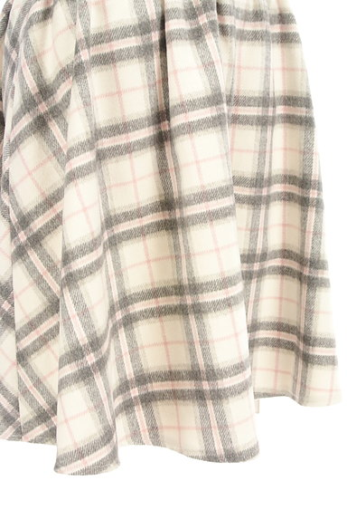 LODISPOTTO(ロディスポット)の古着「チェック柄起毛フレアミニスカート(ミニスカート)」大画像5へ