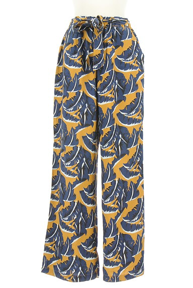 MOUSSY(マウジー)の古着「ボタニカル柄ワイドパンツ(パンツ)」大画像1へ
