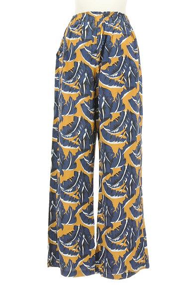 MOUSSY(マウジー)の古着「ボタニカル柄ワイドパンツ(パンツ)」大画像2へ