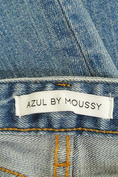 AZUL by moussy(アズールバイマウジー)の古着「カットオフダメージデニムパンツ(デニムパンツ)」大画像6へ