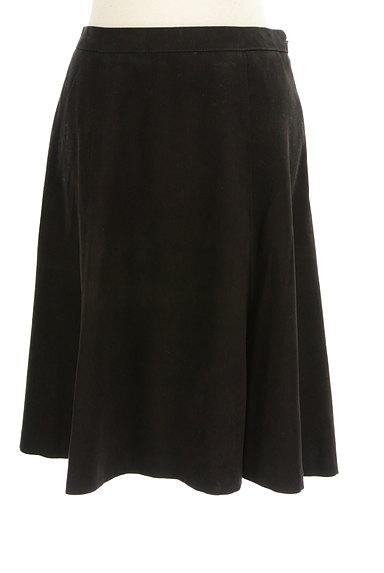 INDIVI(インディヴィ)の古着「膝下丈スウェードフレアスカート(スカート)」大画像1へ