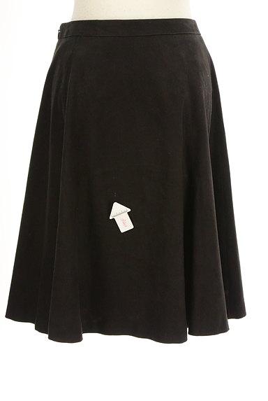 INDIVI(インディヴィ)の古着「膝下丈スウェードフレアスカート(スカート)」大画像4へ