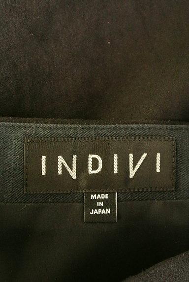 INDIVI(インディヴィ)の古着「膝下丈スウェードフレアスカート(スカート)」大画像6へ