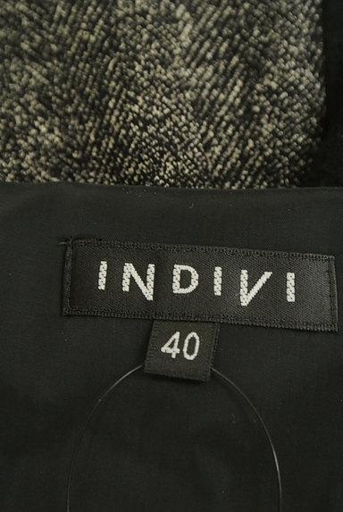 INDIVI(インディヴィ)の古着「ヘリンボーン×無地9分袖ウールワンピース(ワンピース・チュニック)」大画像6へ
