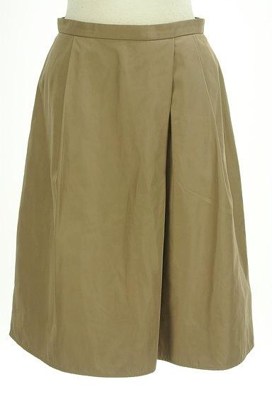 INDIVI(インディヴィ)の古着「艶カラータックフレアスカート(スカート)」大画像1へ