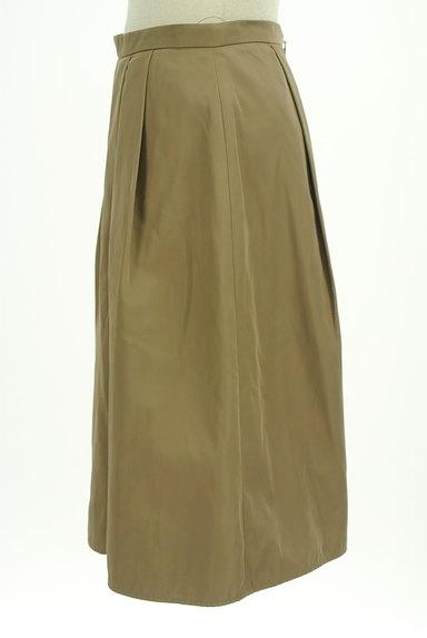 INDIVI(インディヴィ)の古着「艶カラータックフレアスカート(スカート)」大画像3へ