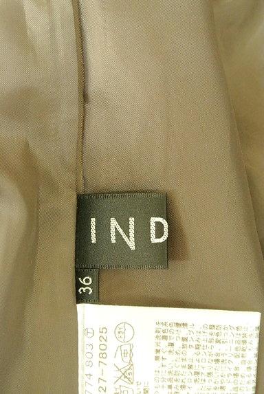 INDIVI(インディヴィ)の古着「艶カラータックフレアスカート(スカート)」大画像6へ