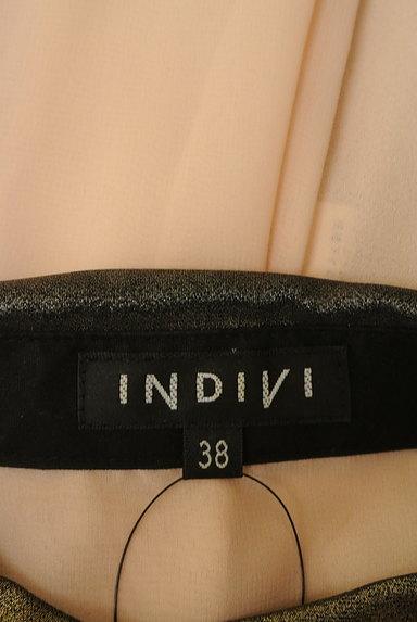 INDIVI(インディヴィ)の古着「メタリック襟シフォンブラウス。(ブラウス)」大画像6へ