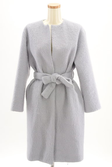 Mila Owen(ミラオーウェン)の古着「ふわふわノーカラーロングコート(コート)」大画像1へ