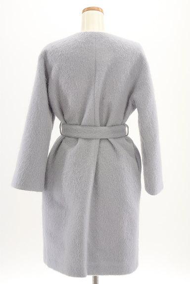 Mila Owen(ミラオーウェン)の古着「ふわふわノーカラーロングコート(コート)」大画像2へ