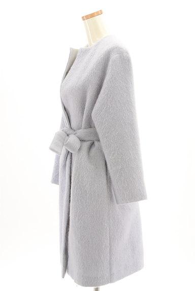 Mila Owen(ミラオーウェン)の古着「ふわふわノーカラーロングコート(コート)」大画像3へ