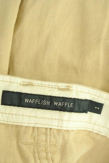 Wafflish Waffle(ワッフリッシュワッフル)の古着「ステッチ&カットオフ膝丈スカート(スカート)」大画像6へ
