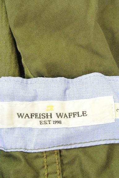 Wafflish Waffle(ワッフリッシュワッフル)の古着「エンボス切替カジュアルミモレパンツ(パンツ)」大画像6へ