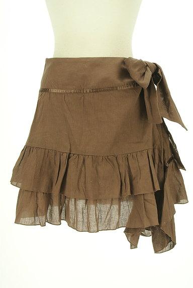 SCOT CLUB(スコットクラブ)の古着「サイドリボンアシンメトリーフリルスカート(ミニスカート)」大画像1へ