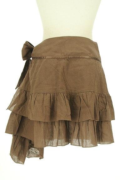 SCOT CLUB(スコットクラブ)の古着「サイドリボンアシンメトリーフリルスカート(ミニスカート)」大画像2へ