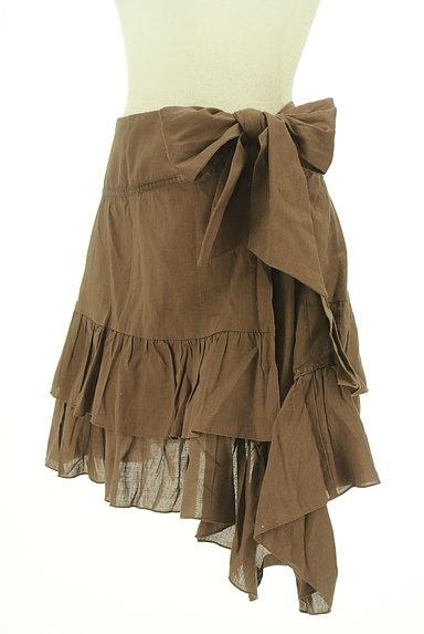 SCOT CLUB(スコットクラブ)の古着「サイドリボンアシンメトリーフリルスカート(ミニスカート)」大画像3へ
