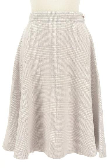 Couture Brooch(クチュールブローチ)の古着「膝下丈起毛チェック柄フレアスカート(スカート)」大画像1へ