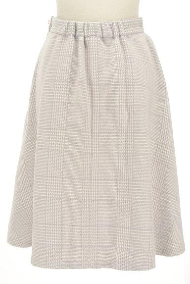 Couture Brooch(クチュールブローチ)の古着「膝下丈起毛チェック柄フレアスカート(スカート)」大画像2へ