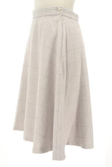 Couture Brooch(クチュールブローチ)の古着「膝下丈起毛チェック柄フレアスカート(スカート)」大画像3へ