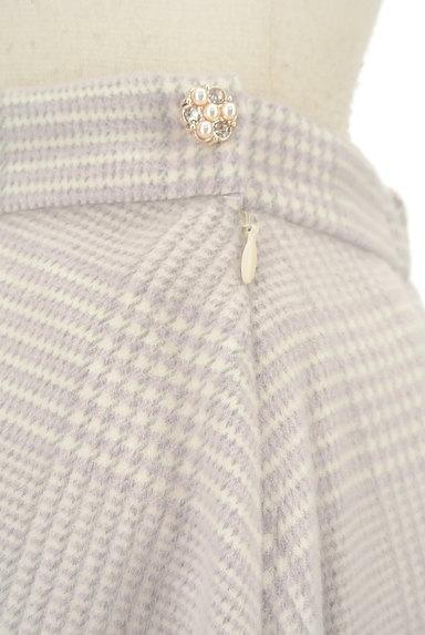 Couture Brooch(クチュールブローチ)の古着「膝下丈起毛チェック柄フレアスカート(スカート)」大画像4へ